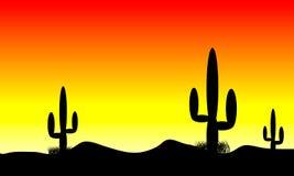 De zonsondergang van de woestijn royalty-vrije illustratie