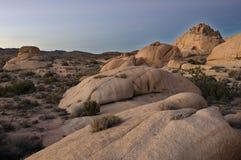 De zonsondergang van de woestijn Stock Foto's