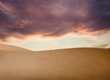 De Zonsondergang van de woestijn Royalty-vrije Stock Foto