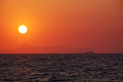 De Zonsondergang van de zomer Stock Afbeeldingen