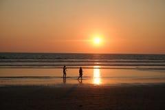 De zonsondergang van de zomer Stock Foto's