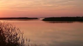 De zonsondergang van de zomer Royalty-vrije Stock Afbeeldingen