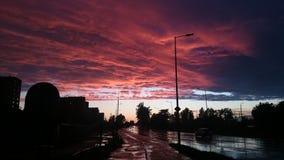 De zonsondergang van de zomer Royalty-vrije Stock Foto's