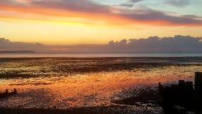 De zonsondergang van de zonsondergangzonsondergang Royalty-vrije Stock Afbeeldingen