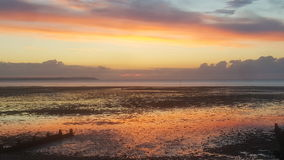 De zonsondergang van de zonsondergangzonsondergang Royalty-vrije Stock Afbeelding