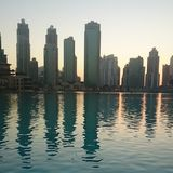 De zonsondergang van Doubai royalty-vrije stock foto