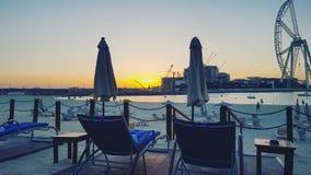 De zonsondergang van Doubai Stock Fotografie