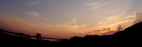 De zonsondergang van Fisheye Royalty-vrije Stock Afbeeldingen