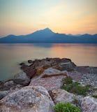 De zonsondergang van Garda Stock Foto