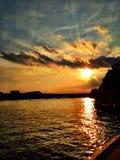 De zonsondergang van Georgetown stock foto
