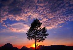 De Zonsondergang van Grand Teton royalty-vrije stock foto