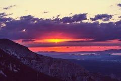 De zonsondergang van Griekenland Royalty-vrije Stock Fotografie