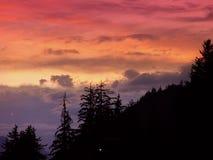 De zonsondergang van Haines Royalty-vrije Stock Afbeeldingen