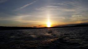 De Zonsondergang van het Ambejesusmeer Royalty-vrije Stock Afbeeldingen