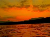De zonsondergang van het bloed Stock Afbeelding
