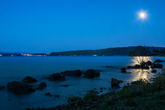 De zonsondergang van het Braccianomeer royalty-vrije stock fotografie