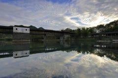 De zonsondergang van het caihongqiaopark, rgb adobe royalty-vrije stock afbeeldingen