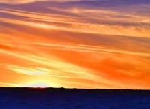 De Zonsondergang van het Colorizedstrand Stock Fotografie