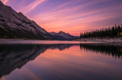 De zonsondergang van het geneeskundemeer Royalty-vrije Stock Foto