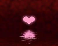 De zonsondergang van het hart Royalty-vrije Stock Foto