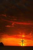 De zonsondergang van het idool Stock Foto's