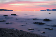 De Zonsondergang van het Kitsilanostrand Royalty-vrije Stock Foto