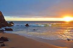De zonsondergang van het Laguna Beach Stock Afbeeldingen