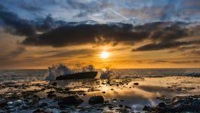 De zonsondergang van het Laguna Beach Stock Foto