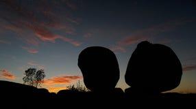 De Zonsondergang van het Marmer van duivels Stock Foto