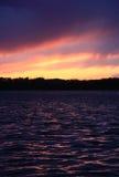 De Zonsondergang van het meer Royalty-vrije Stock Fotografie
