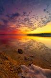 De Zonsondergang van het Meer van Benbrook stock afbeeldingen