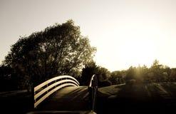 De Zonsondergang van het park royalty-vrije stock fotografie
