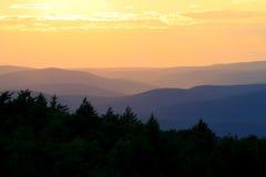 De Zonsondergang van het Park van Minnewaska Stock Fotografie