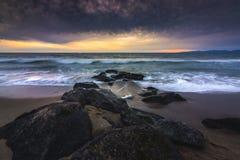 De Zonsondergang van het Redondostrand stock afbeelding