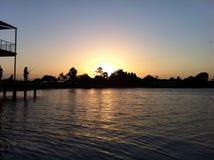 De zonsondergang van het Roddpunt Stock Foto's