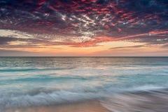 De zonsondergang van het Sanibeleiland stock foto