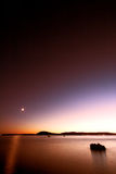 De zonsondergang van het strand Royalty-vrije Stock Foto's