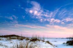 De Zonsondergang van het strand Royalty-vrije Stock Afbeelding