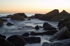 De Zonsondergang van het Strand van Coronado Stock Foto