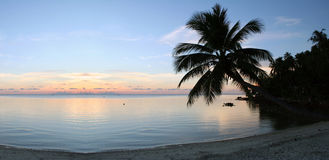 De Zonsondergang van het strand - Zuiverheid Royalty-vrije Stock Afbeelding