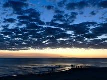 De zonsondergang van de het strandzomer van Uruguay royalty-vrije stock afbeelding