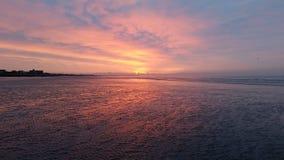 De Zonsondergang van het westenwittering Stock Foto's