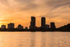 De Zonsondergang van het Xuanwumeer Royalty-vrije Stock Afbeelding