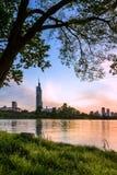 De Zonsondergang van het Xuanwumeer Royalty-vrije Stock Fotografie