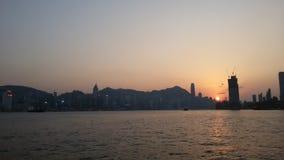 De Zonsondergang van Hongkong Royalty-vrije Stock Afbeeldingen