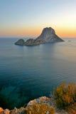 De Zonsondergang van Ibiza Stock Afbeeldingen
