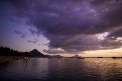 De Zonsondergang van Indische Oceaan Stock Foto