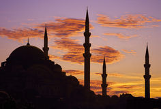 De zonsondergang van Istanboel stock foto's