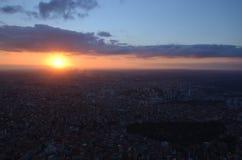 De Zonsondergang van Istanboel Royalty-vrije Stock Afbeeldingen