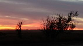 De Zonsondergang van Kansas Stock Fotografie